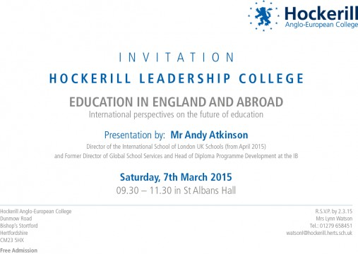 Andy Atkinson Invitation