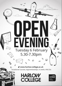 harlow college open evening